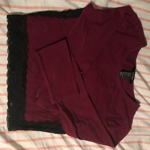 BURGUNDY CROP TOP!